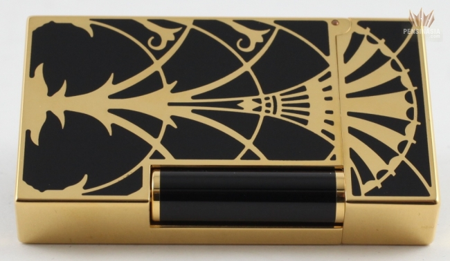 S T Dupont Limited Edition American Art Deco Yellow Gold