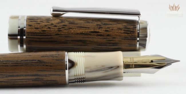 delta dark seawood with rhodium trim fountain pen precious and majestic design ebay. Black Bedroom Furniture Sets. Home Design Ideas