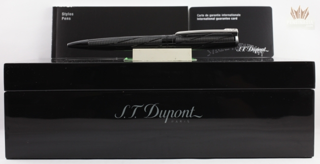 145034 S.T New In Box Black PVD Ball Point Pen Dupont James Bond 007 L.E